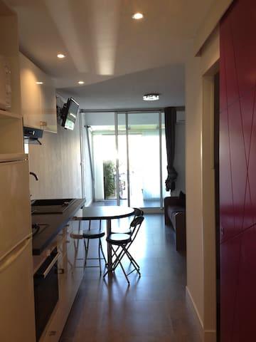 Studio 4 personnes de 25m2 avec petit jardin - La Grande-Motte - Condominium