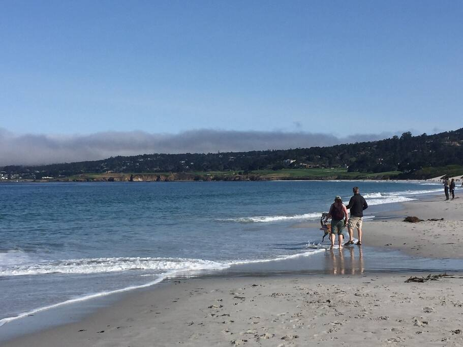 Walk to Pebble Beach golf courses