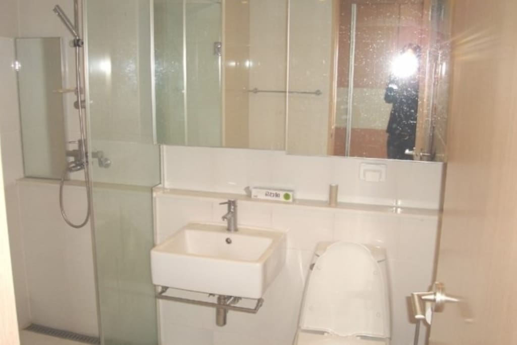 Bathroom with separated shower