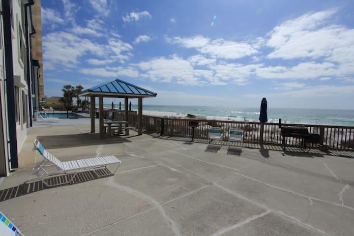 Gulf-front 1st Floor 2BR Sleep 8;Pool on Beach-109