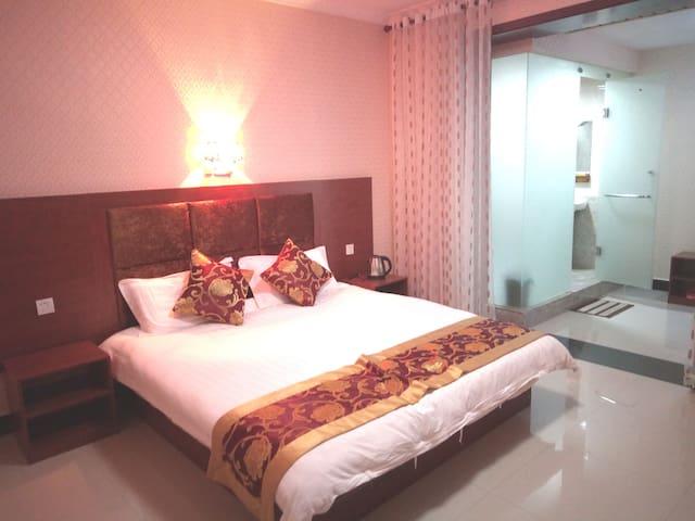 咸阳机场复式独栋度假别墅Xianyang(24小时免费接送机)三人温馨家庭房