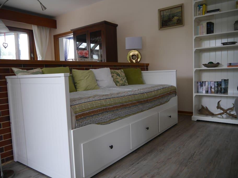 zusätzliche Schlafmöglichkeit Wohnzimmer
