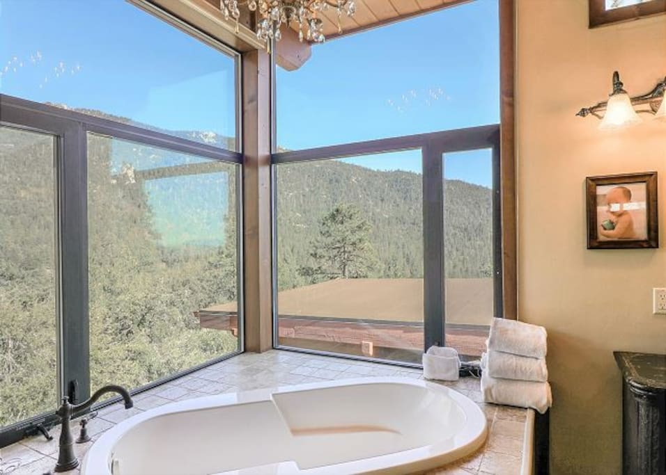 Gorgeous views from the master bathroom. The ultimate place to unwind.