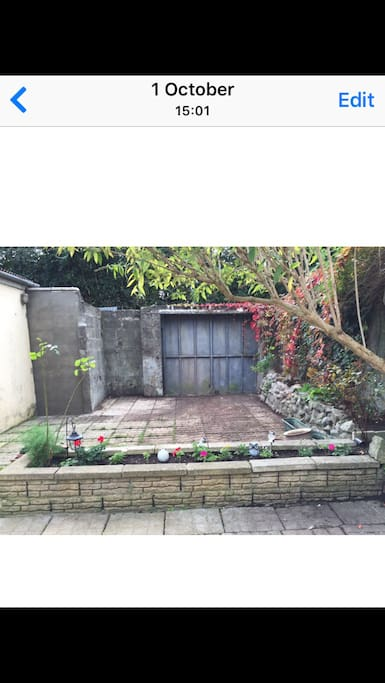 Secure private back garden