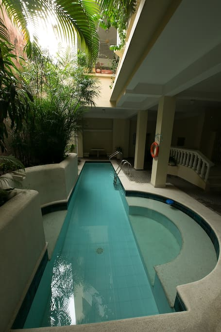 Small swimming pool in the firt floor for all the apartements