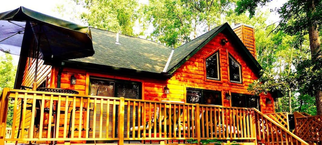 Northwoods cabin on the river