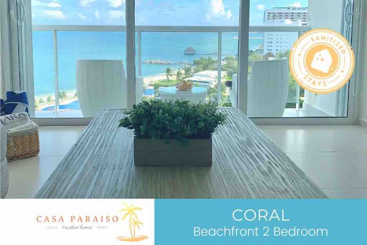 ☆ CORAL -Beachfront /shared pool/5 pax/ WI-FI☆