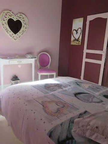 Chambre tout en cœur - La Flèche - House