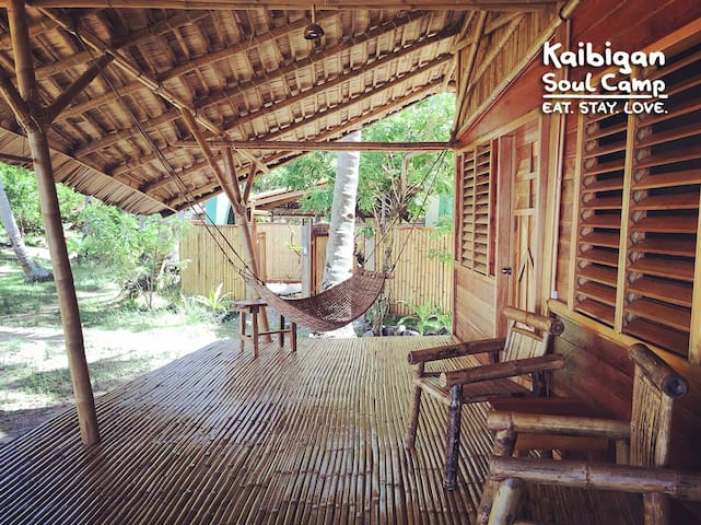 Kaibigan Soul Camp Palawan • longhouse • WHALE SHARK GARDEN SIDE