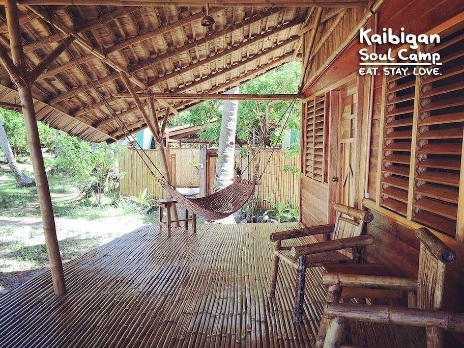 Kaibigan Soul Camp Palawan • longhouse • WHALE SHARK GARDEN SIDE