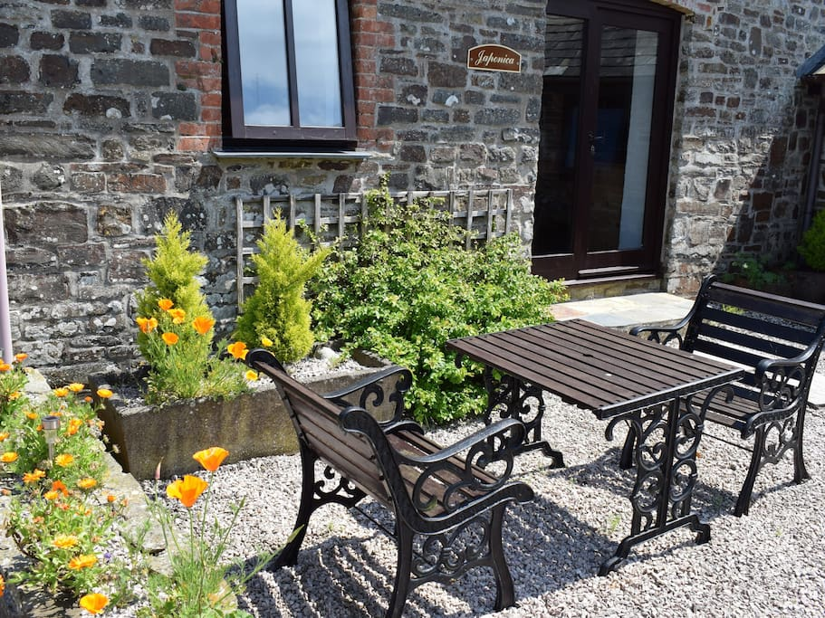 The Seating Area for Japonica Cottage