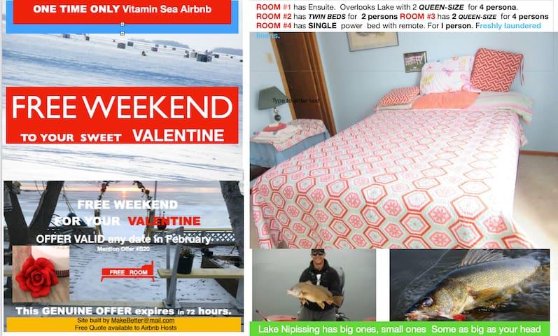 UNIT  3  VITAMIN SEA Airbnb RESORT NIPISSING BEACH