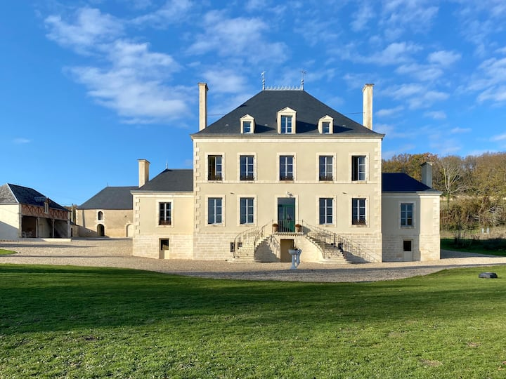 Beautiful chateau with large heated pool.