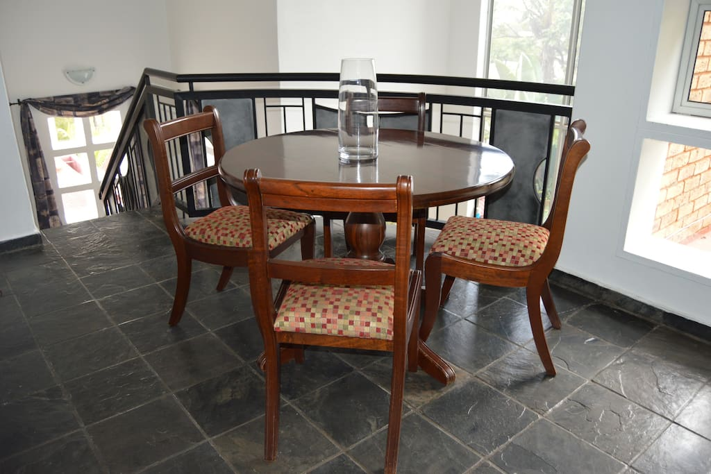 Your dining area in the mezzanine with love from Granny