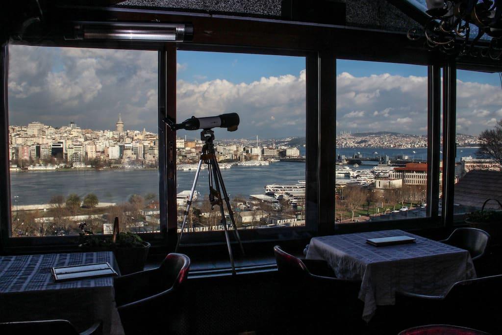 cafe otel manzarası