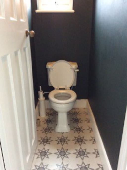 Newly fitted toilet with underfloor heating.