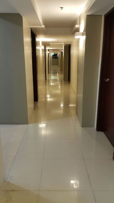 Hallway to the condo unit. You will be greeted like this everytime you come home