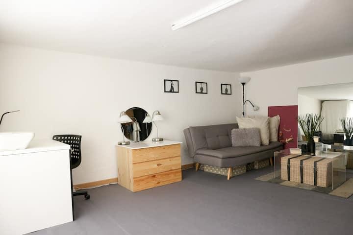 Attic single room in share loft Design Studio +
