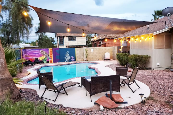 NEW! Phoenix Home w/Private Pool & String Lights