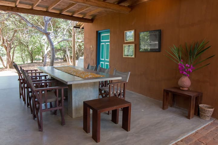 Rustic Eco-Villa on Farm Stay w/ Ayurveda & Lagoon