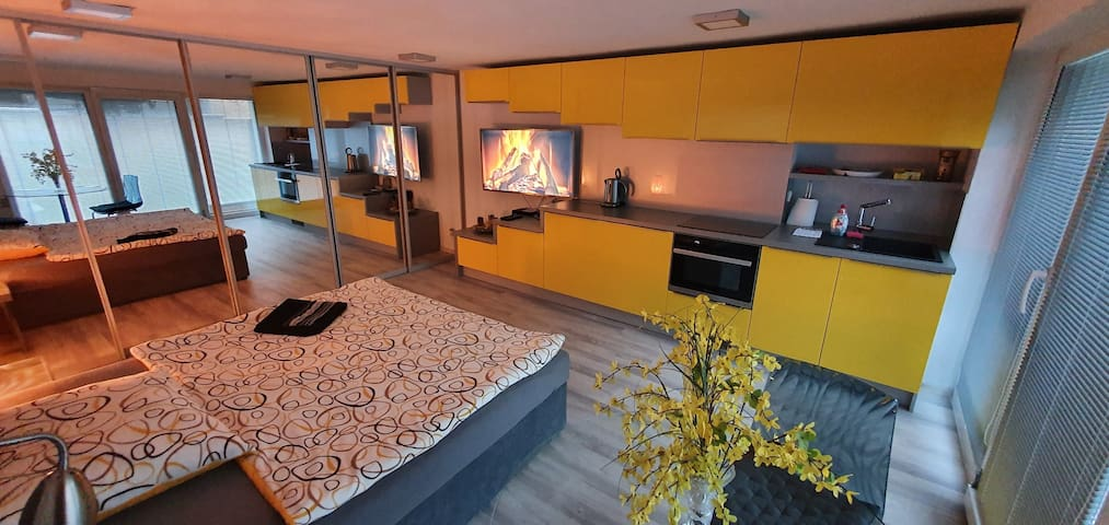 Sunny Studio-útulné ubytování blízko centra města