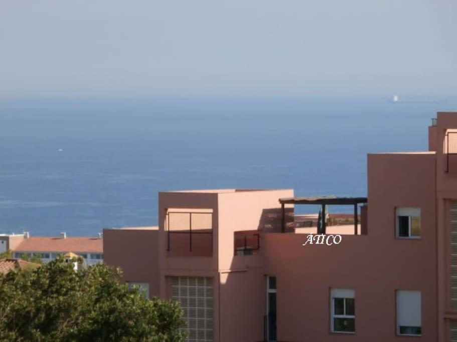 Vistas del Ático y Vistas al mar