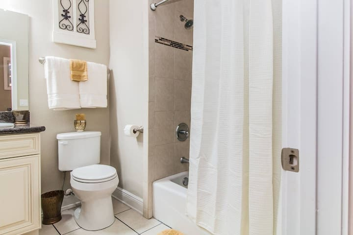 Upstairs Master in-Suite Private Bathroom with tub.