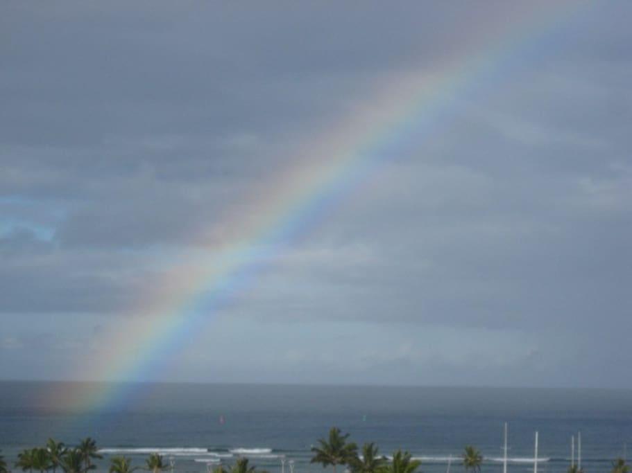 Rainbow from the lanai