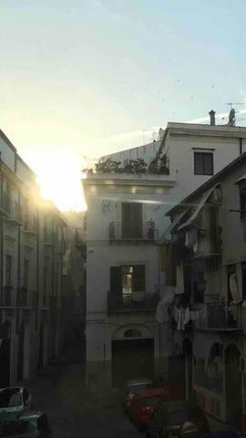 "Vista ""centro storico"" dal balcone!!"