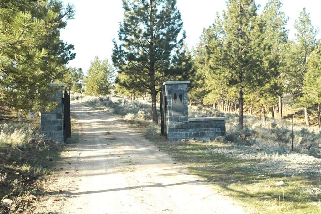 Gate to 150 acre estate