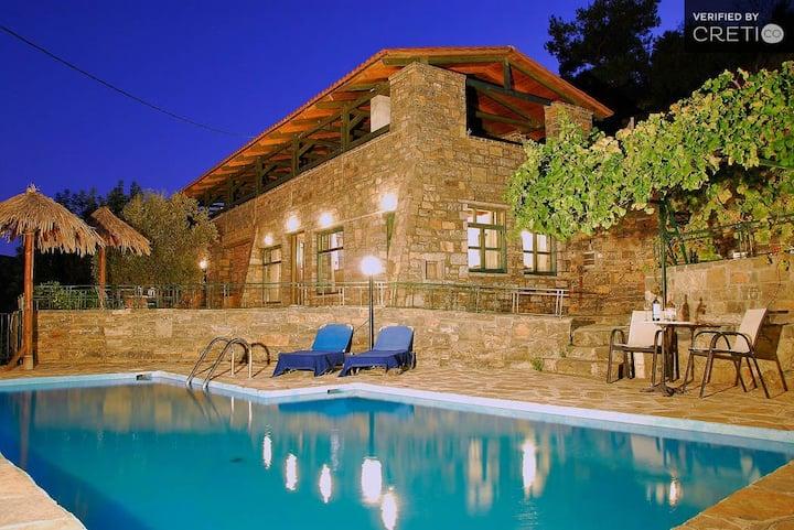 Holiday Villa, PRVT pool, Agios Nikolaos Lasithi