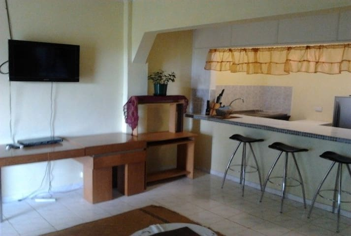 Spacious Sitting Room and Kitchen