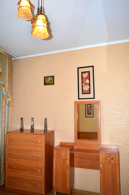 Bedroom 1. Plenty of storage space for your clothes.