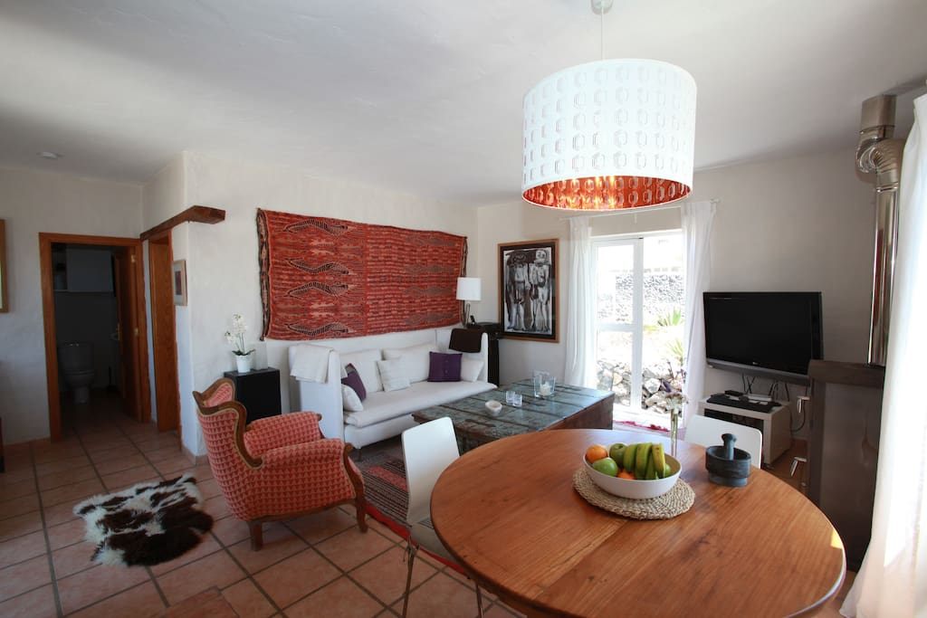 Dining and living room area.