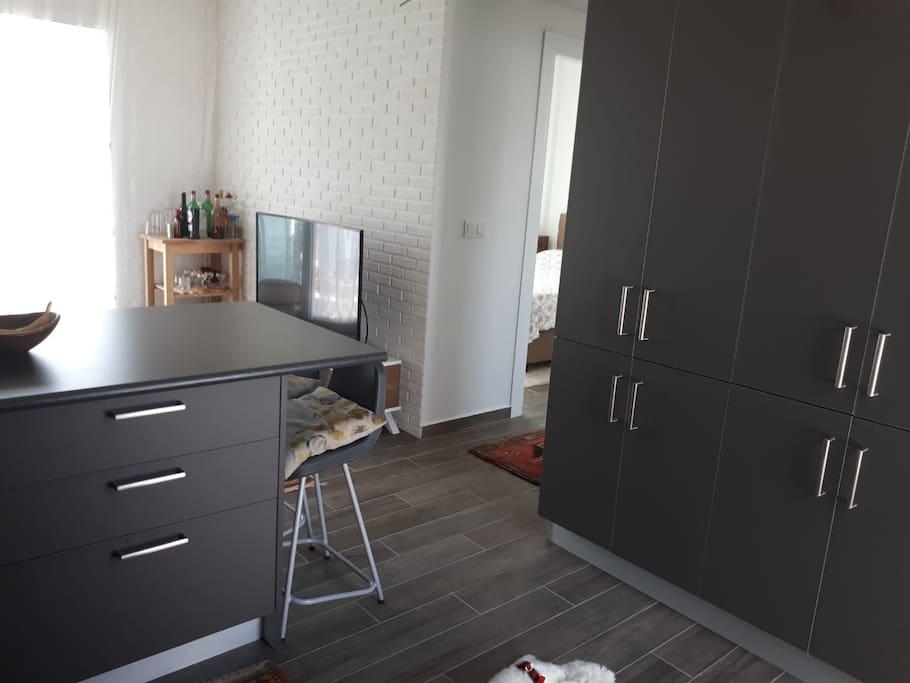 Salon ve mutfak