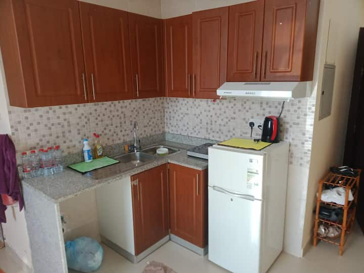 Studio convenient for couples or a family of 3
