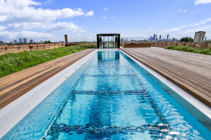 London Fields Penthouse with Heated Pool  (1 BED)