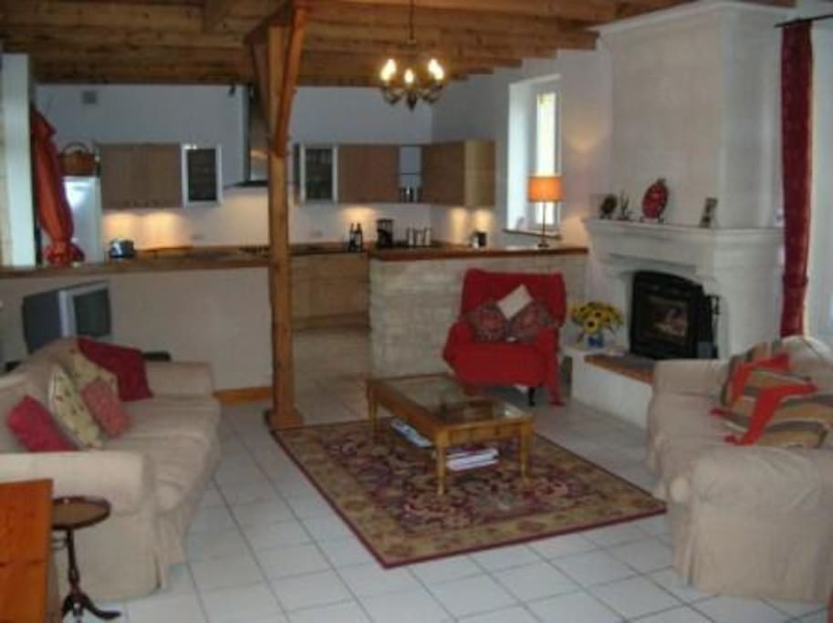 Farmhouse, open plan lounge