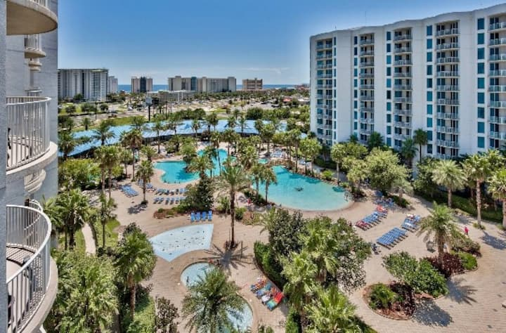Paradise Resort w/Lagoon Pool- The Palms of Destin