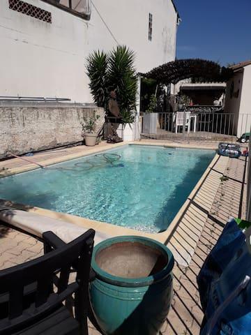 Studio avec piscine- Ile de la Barthelasse