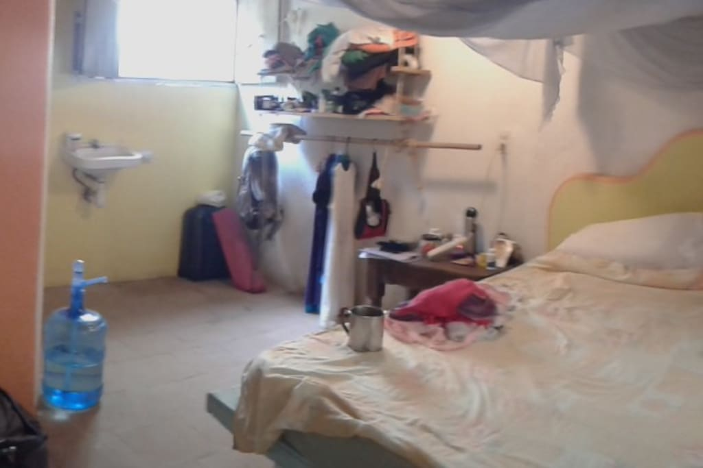 This is the ensuite room.  It is a bit messy in this photo and you can not see the single bed either....