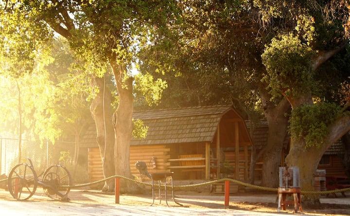 Autentica cabaña para 4 personas.