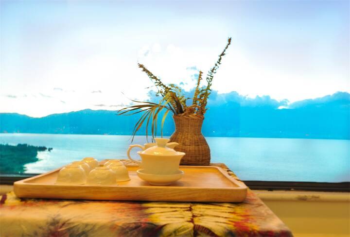 洱海时光一线海景浪漫精品三居室7人间+接机接站(可做饭)