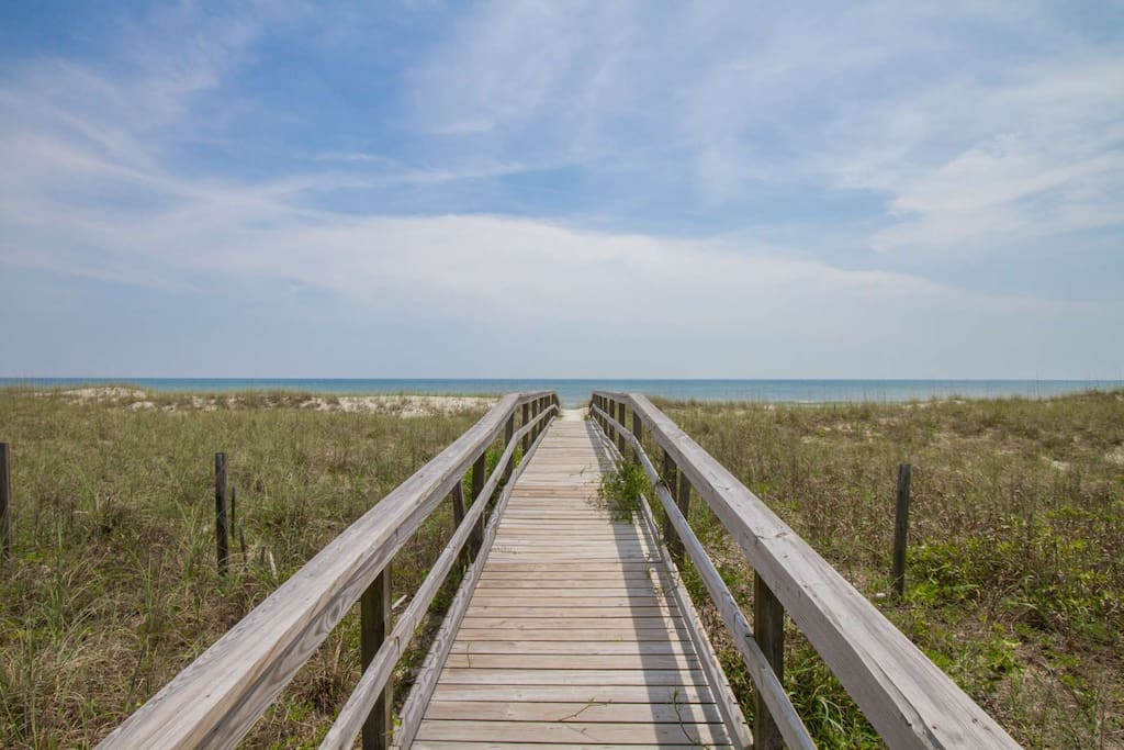 This is it!  Can you feel the sand beneath your toes?  Just steps away!