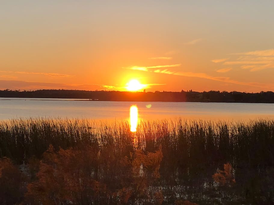The lake by the studio - your daily sunset