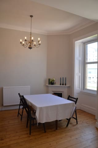Dining area adjoined to kitchen
