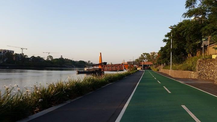 Riverside riding.