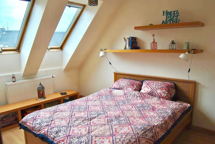 Room in clean spacious apartment 15min from City