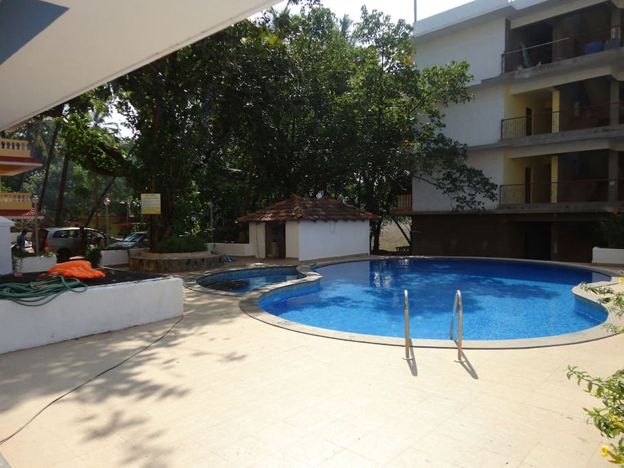Furnished 1 Bhk Service Apartment Goa Palms 1 Serviced Apartments For Rent In Anjuna Goa India