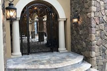 Front Entry to Courtyard / Pool Area